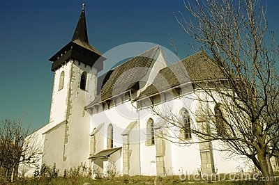 The protestant church of Sintereag, Romania