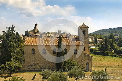 Protestant temple in Lourmarin,  Provence