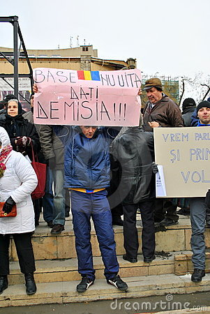 Protester in Bucharest Editorial Photo
