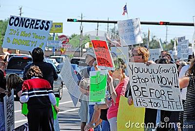 Protesters in America Editorial Stock Photo