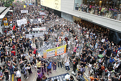 Protesters Demand Dissident Death Probe in H.K. Editorial Image