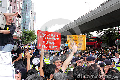 Protesters Demand Dissident Death Probe in H.K. Editorial Stock Image