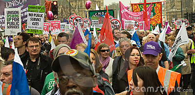 Protesters at the Houses of Parliament Editorial Photo