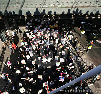 Protesters in London Editorial Stock Image