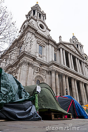Protesters in Saint Pauls, London, 2012 Editorial Image