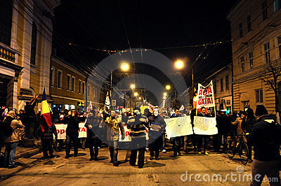 Protesting against ACTA and government Editorial Stock Photo