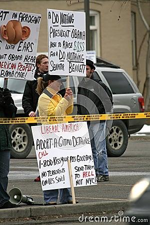 Protesting President Obama Editorial Photo