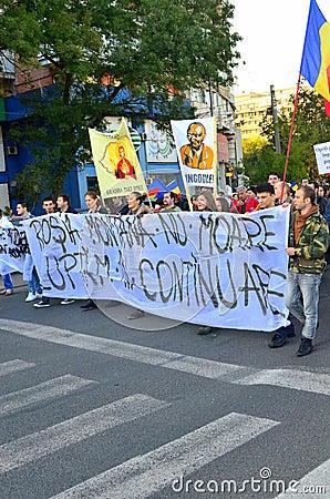 Protesting for Rosia Montana Editorial Photo
