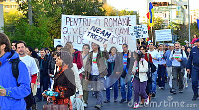 Protesting for Rosia Montana Editorial Stock Image