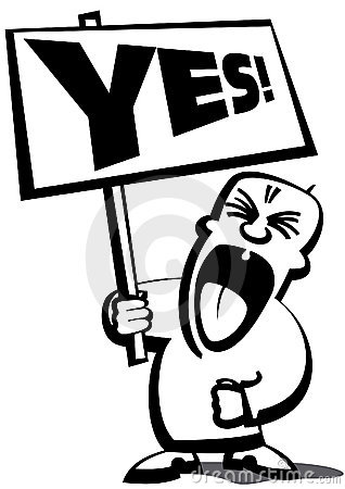 Free Protestman Say Yes Stock Photography - 4474322