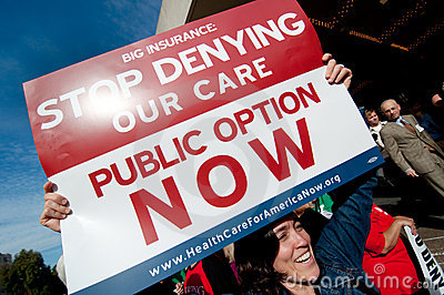 Protesto dos cuidados médicos Foto Editorial