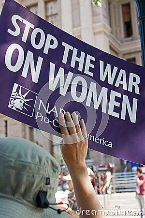 Protestor a favor do aborto do Texan Foto de Stock Editorial