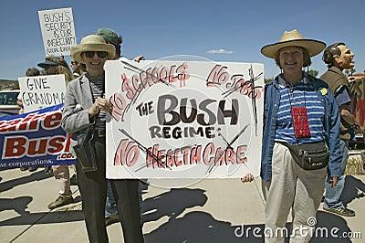 Protestor in Tucson Arizona Editorial Photo