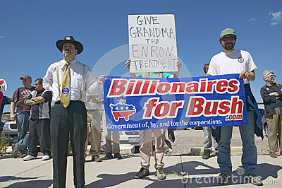 Protestor in Tucson Arizona of President G Bush Editorial Photography