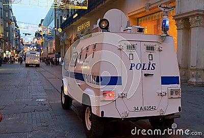 Protestos em Turquia Imagem de Stock Editorial