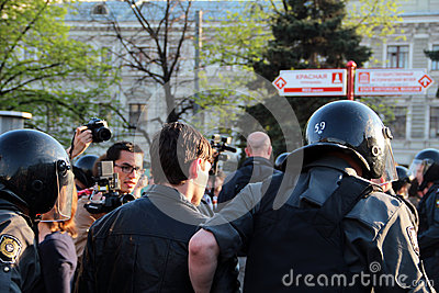 Protests in Moscow Editorial Image