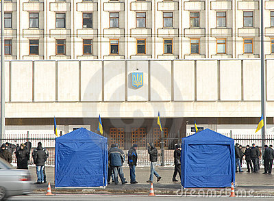 Protests after President election in Kiev Editorial Photo