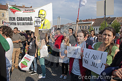 Protests for Rosia Montana Editorial Photography