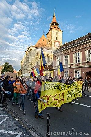 Protests for Rosia Montana Editorial Image