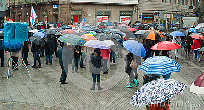 Protests in Spain Editorial Photo