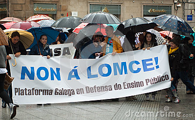 Protests in Spain Editorial Stock Photo