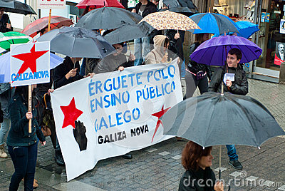 Protests in Spain Editorial Image