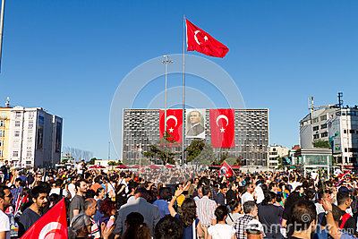 Protests in Turkey Editorial Stock Image