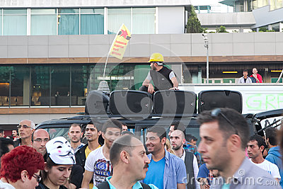 Protests in Turkey in june 2013 Editorial Image