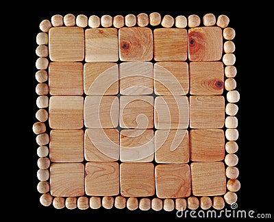 Protestuje drewnianego