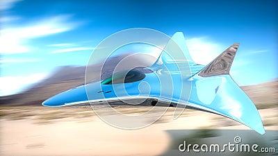 Prototype fighter plane in 3d