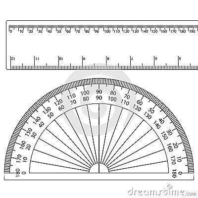 Protractor+ruler