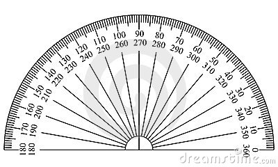 Protractor Template Stock Image - Image: 5827761