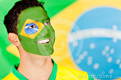 Proud Brazilian man