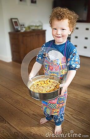 Free Proud Child Baking Applepie Stock Photos - 9528233