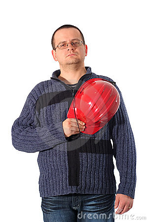 Proud construction engineer Stock Photo