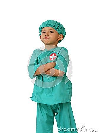Proud doctor