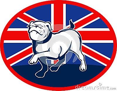 Proud English bulldog flag british