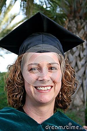 Proud Female Graduate