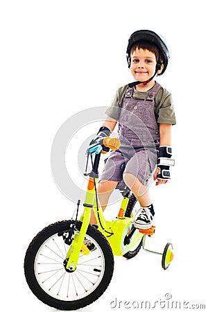 Proud little biker