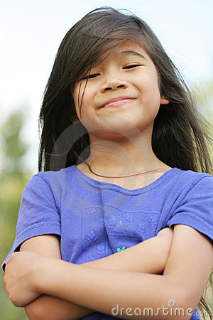 Free Proud Little Girl Royalty Free Stock Image - 3192626