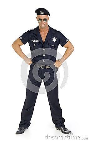 Proud policeman