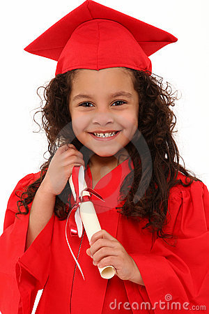 Free Proud Preschool Girl Graduate Child Royalty Free Stock Photography - 18170167