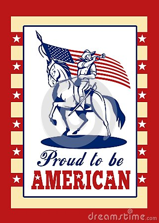 Proud to be American Poster Greeting Card