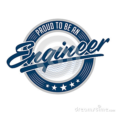Proud to be engineer vector emblem design Vector Illustration