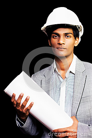 Proud young architectural student or engineer Stock Photo