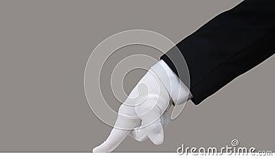 Prova bianca del guanto