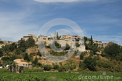 Provencal village in the mountains