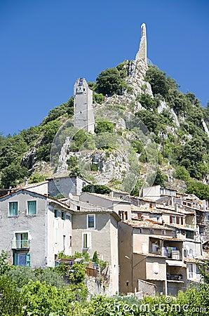 Provence town landscape