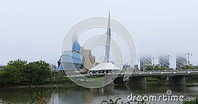 Provencher Bridge i Canadian Museum for Human Rights, Kanada 4K zbiory
