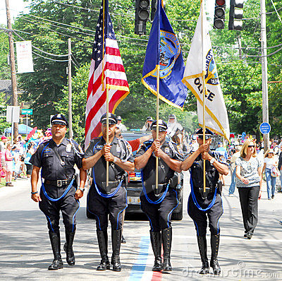 Providence Police Honor Guard Editorial Photo